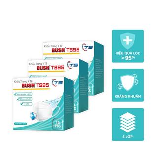 Hộp khẩu trang y tế kháng khuẩn 5 lớp Bush TS95 (hộp 10 cái) - Ts95 thumbnail