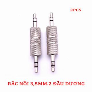 Rắc Nối 3,5mm.2 Đầu Dương (2 chiếc) - SKU NỐI 3,5MM-2PCS 1
