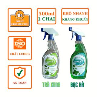 Dung dịch nước xịt rửa tay khô nhanh kháng khuẩn Hapicare chai 500ml - HAPICARE 500ML thumbnail