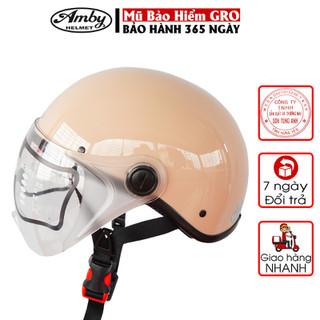 Mũ bảo hiểm nửa đầu Amby chính hãng, bảo hành 12 tháng, thời trang cho nam và nữ ST05 - Nhiều màu - 3433_47390984 thumbnail