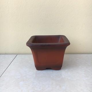 Chậu bonsai Vuông mini đất nung gốm Bát tràng 1 size BM-46 chậu sen đá - 11521476476 thumbnail