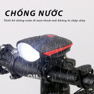 Đèn xe đạp tích hợp chuông sạc điện - Đèn chuông thumbnail