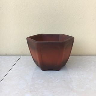 Chậu bonsai Lục giác mini đất nung gốm Bát tràng 1 size BM-41 - 8683130780 thumbnail