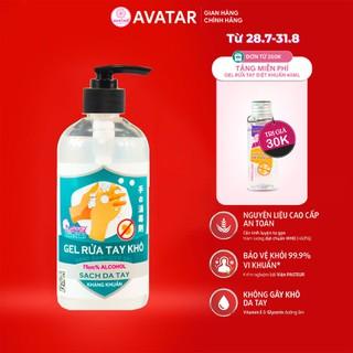 Gel rửa tay khô AVATAR diệt khuẩn cồn 500ml(nắp đen) - NẮP ĐEN -500ML thumbnail
