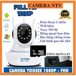 Camera Yoosee 3 râu HD1080 - 2.0Mps cổng mạng Lan - kèm thẻ nhớ chuyên dụng 32G