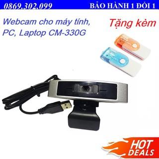 Webcam cho máy tính, PC, Laptop CM-330G + TẶNG KÈM ĐẦU ĐỌC THẺ. - CM-330G _ Q1 thumbnail