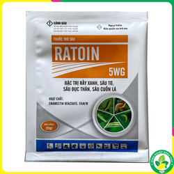 Thuốc Trừ Sâu RATION 5WG – Chuyên trừ: Rầy xanh, Sâu tơ, Sâu đục thân, Sâu cuốn lá (Gói 20gr)