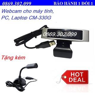 Webcam Cho Laptop PC CM-330 Cho Học Sinh Sinh Viên Học Online Kèm mic M306 - CM-330G_Q5 thumbnail