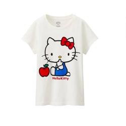 Áo thun ngắn tay bé gái Hello Kitt.y Uniq.lo Nhật Bản
