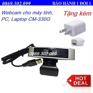 Webcam Học trực tuyến, Live Stream Học Online Dùng Cho Máy Tính, Laptop CM330G - TẶNG CỤC SẠC ĐIỆN THOẠI. - CM330G_Q2 thumbnail