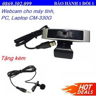 Webcam cho máy tính, PC, Laptop CM330G - Webcam học online tại nhà 330G + Tặng mic cài áo cho điện thoại. - CM-330G_Q4 thumbnail