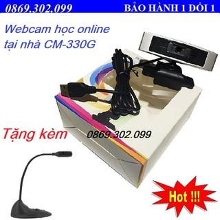 Webcam cho máy tính CM330G - Webcam học online tại nhà 330G - Camera CM330G tặng kèm Mic T21 - CM-330G_Q6 thumbnail