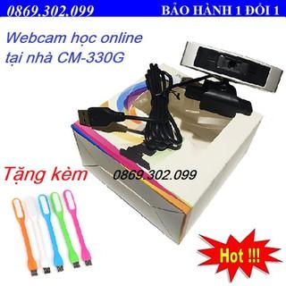 Webcam Học trực tuyến, Live Stream Học Online Dùng Cho Máy Tính, Laptop CM330G - Tặng kèm đèn led. - CM330G_Q3 thumbnail
