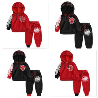 Set bộ quần áo trẻ em 11-21kg (1-5 tuổi) dành cho bé trai mẫu Siêu nhân nhện có mũ.Thiết kế độc đáo, khỏe khoắn, màu sắc bắt mắt - Nhện có mũ thumbnail