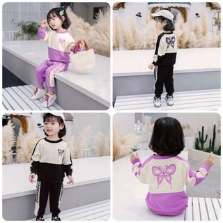 Bộ quần áo trẻ em 11-21kg dành cho bé gái mẫu Cánh bướm. Thiết kế đáng yêu, hàng may kỹ, màu sắc bắt mắt - Set Cánh Bướm thumbnail