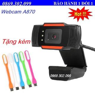 Webcam Máy Tính Độ Phân Giải Cực Nét A870- Tặng đèn LED - A870_Q2 thumbnail