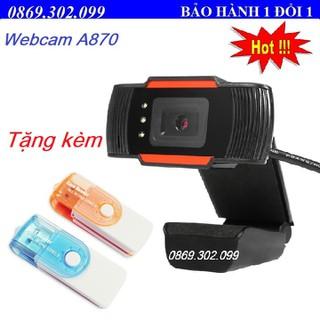 A870 đen Driverless Webcam USB 2.0 12MP HD Clip-On Web Camera có thể điều chỉnh video kỹ thuật số với Mic cho máy tính máy tính xách tay máy tính xách tay A870 đen Driverless Webcam USB 2.0 12MP HD Clip-On Web Camera- Kèm Đầu đọc thẻ - A870 thumbnail