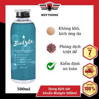 Dung dịch Anolyte khử khuẩn, xịt khuẩn, diệt vi khuẩn khử trùng bề mặt không gian , kết hợp dùng cho Máy phun khử trùng NANO không dây ( Dung tích 500ml ) - Huy Tưởng - BIOLYTE-DUNGDICH -500ML thumbnail