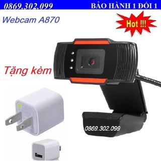 Webcam Máy Tính Độ Phân Giải Cực Nét A870 + Tặng kèm củ sạc điện thoại. - A870_Q thumbnail