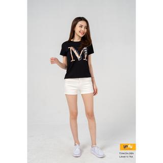 Quần Short Jeans Nữ Bó Cạp Cao Thương Hiệu YODY - SJN4010 thumbnail