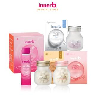 Combo thực phẩm bảo vệ sức khỏe InnerB Aqua Rich Doubleup, InnerB Snow White, InnerB Aqua Bank Radiant Soft Skin và Nước uống Collagen InnerB Glowshot - TUINB00044CB thumbnail