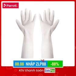 Găng tay cao su siêu dai, bao tay rửa chén, giặt giũ, không mùi hôi Parroti Active AT01