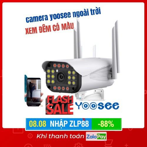 Camera ip yoosee 3mega ngoài trời ban đêm có màu