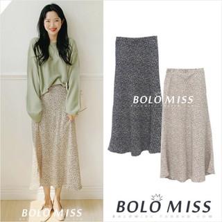MS048 Chân váy voan midi xoè da báo kiểu dáng Hàn Quốc - MS048 thumbnail