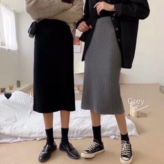 MS150 Chân váy midi len Quảng Châu xẻ sau - 00241 thumbnail
