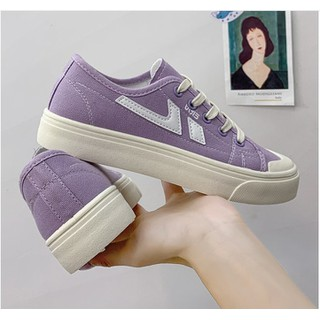 Giày Thể Thao Nữ Đế Bánh Mì Kiểu Dáng Bazic Đơn Giản Độn Đế QU90 Siêu Xinh - QU90 thumbnail