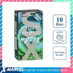 Bao cao su Sagami Xtreme Spearmint siêu mỏng siêu mềm cao cấp bạc hà mát lạnh /áo mưa