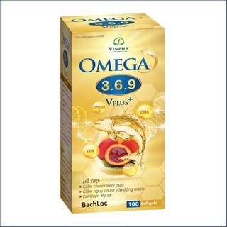 Viên dầu cá O.m.e.ga 3 6 9 Vplus Bổ não, sáng mắt, khỏe mạnh tim mạch - Hộp 100 viên - O.m.e.ga 3 6 9 Vplus - Viên dầu cá O.m.e.ga 3 6 9 Vplus thumbnail