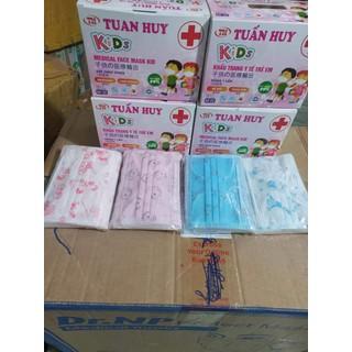 khẩu trang bé kk hộp 50 cái hoạ tiết ( xanh ,,hồng) - 067 thumbnail