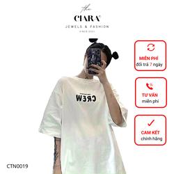 Áo Thun Tay Lỡ CIARA [𝐒𝐈𝐄̂𝐔 𝐒𝐀𝐋𝐄] Áo Phông Cotton Nam Nữ Unisex - Hình in CREW Basic  Local Brand Oversize Form Rộng - CTN0019