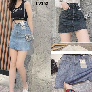 Chân váy jean ngắn co giãn có quần CV152 - CV152 thumbnail
