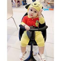 Quần áo trẻ em, trẻ sơ sinh hình thú Gấu Pool vải cotton dài tay cho bé 4 - 15 kg
