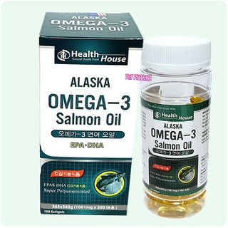 Viên dầu cá Alaska Omeg 3 bổ não, sáng mắt, khỏe mạnh tim mạch, tăng cường trí nhớ - Hộp 100 viên - Viên dầu cá Alaska Omegaa 3 thumbnail