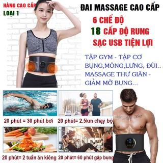 Đai massage giảm mỡ bụng, đai massage đùi, lưng, cổ vai gáy cho nam nữ, người tập gym, đai mat xa 6 chế độ với 12 cường độ mát xa khác nhau, đai massage X100 - Đai massage X100 thumbnail