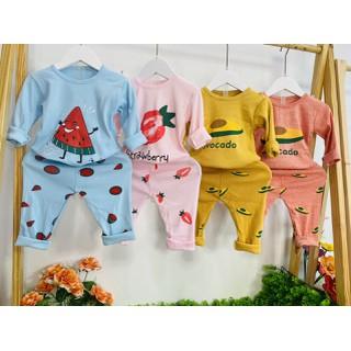 Bộ quần áo thu đông trẻ em 7-17kg mẫu Hoa quả đáng yêu dành cho cả bé trai và bé gái - Set Hoa Quả thumbnail