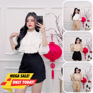 Set đùi nữ, set nữ quần short áo kiểu new trend đủ size S M L S-12 - S-12 thumbnail
