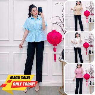 Set nữ quần tây, set áo kiểu nữ quần tây new brand nhiều màu đủ size S M l S-16 - S-16 thumbnail