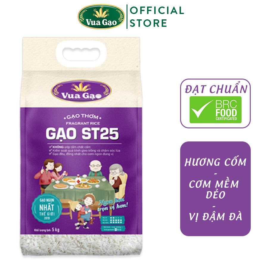 Gạo Thơm ST25 - Túi 5kg - Cam kết date mới