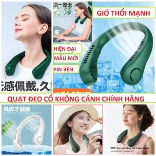 Quạt mini đeo cổ không cánh tiện dụng mẫu mới pin 8h - 12h chinh hãng loại xịn - v95 thumbnail