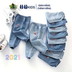 Quần dài bò giấy bé trai bé gái 27Kids quần jean mềm nam nữ cho trẻ từ 2-6 tuổi UPB01