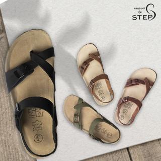 Giày sandal Unisex đế trấu Xỏ ngón - Da thật - SDT.QXN thumbnail