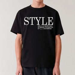 """Áo thun nam nữ in trích dẫn """"Style real styles is never right or wrong"""" chất cotton size XS-3XL"""