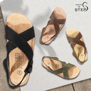 Giày sandal Unisex Quai chéo - Da thật - SDT.QCE thumbnail