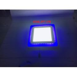 Đèn led ốp trần trang trí 16w viền màu xanh dương 3 chế độ siêu sáng, tiết kiệm điện