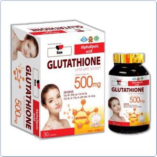 Viên Uống Trắng Da Glutatthion 500mg- Giúp Trắng Da Toàn Thân, Mờ Thấm Nám, - Viên Uống Trắng Da Glutatthion 500mg- thumbnail