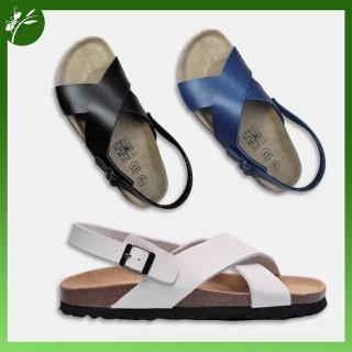 Giày Sandal Đế trấu Da tổng hợp Unisex Quai chéo - SST.QCE thumbnail